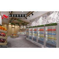 合肥专业水果店装修 店面装修 精品水果柜设计布局
