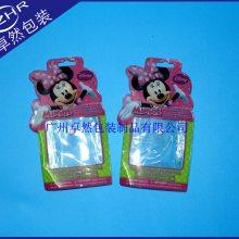 定做卡通礼品pvc礼品袋挂钩袋文具穿孔饰品袋迪士尼玩具PVC包装袋