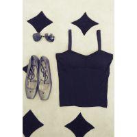 【YESWOMNE】小宜定制 2014秋装新款女装 胸垫吊带打底衫内衣