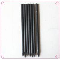 shunshou酒店办公用品 礼品广告HB铅笔 木塑黑杆铅笔 定制款 可加印LOGO