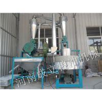 胶南市永和豆浆石磨磨面机 胶州石磨面粉厂家生产现场