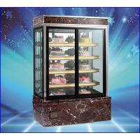 洛阳日式直角蛋糕柜 大理石方形蛋糕柜品牌 咖啡屋三明治冷藏展示柜