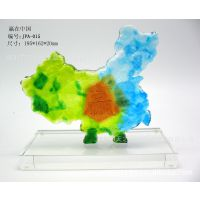琉璃摆件、商务类、赢在中国、东方明珠、鸳鸯琉璃工艺品家居礼品