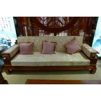 美家国际 白橡木吉祥沙发三件套 客厅家用布艺麻布沙发组合 直销