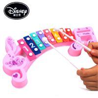 迪士尼正版授权 儿童音乐彩色 早教益智玩具 八音阶音符敲琴