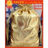 厂定做色丁布袋 金色束口色丁袋 高档珠宝礼品柔软绸布袋
