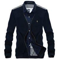 迪迪波尔2014年春季新品男士假两件衬衫  韩版潮流男式款