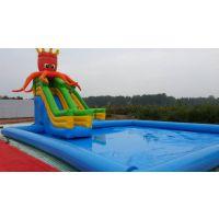 郑州腾龙优质 支架游泳池 钢架水池 充气水滑梯