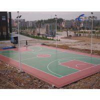 中山学校篮球场地面工程 丙烯酸球场水性漆 大学羽毛球场地坪工程