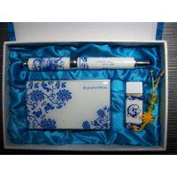 热销三件套陶瓷U盘套装 定制礼品U盘套装陶瓷笔名片盒可开17个点的票