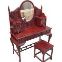 成都古典家具卧室家具定制中式实木梳妆台