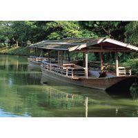 仿古色观光木船 旅游观光船制造价格