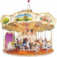 孩乐堡玻璃钢游艺机16座的旋转木马
