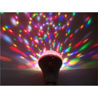 深圳翔明电子LED七彩球泡灯 舞台彩灯KTV专用花纹彩灯 RGB旋转彩色灯泡3W 6W