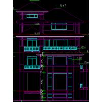 三层联排别墅建筑方案设计图纸