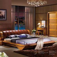 【美家国际】进口楸木乌金木板实木床 怡欣居品牌 简约现代大床