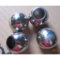 供应201 304不锈钢管装饰球直通 32mm