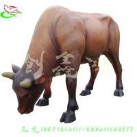 热款玻璃钢雕塑牛 仿真动物雕塑深圳牛系列 欢迎来图定做