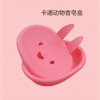 深圳厂家直销卡通动物造型香皂盒印花注塑加工香皂塑料盒子可定做