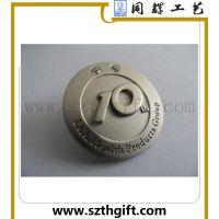 制作金属徽章 金属分层电镀珍珠徽章来图稿定做 深圳同辉工艺厂