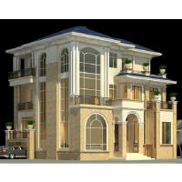 300平高级欧式别墅设计施工图带效果图(知名建筑设计院)