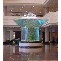 西安鱼缸 中式生态鱼缸 景观鱼缸工程 镶嵌式鱼缸工程 大型鱼缸工程定制