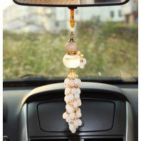 高档水晶葫芦挂件 保平安香水葫芦挂饰 义乌汽车挂件批发 车挂