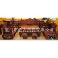 勾仔宝座沙发十三件套 高端大气 老挝大红酸枝 古典红木沙发