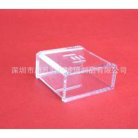 办公用品 亚克力透明名片盒加厚 有机玻璃高档名片盒桌面 批发