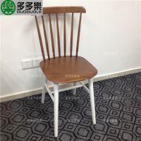 工业风实木餐椅 优质实木椅 复古实木椅子 多多乐家具定制 厂家直销