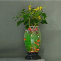 底座加玻璃鱼缸珍雅轩电子灯光花瓶批发无土栽培花卉电子增氧花瓶