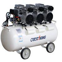奥突斯OTS-750x3-65L 静音无油空气压缩机喷漆牙科空压机3P打气泵