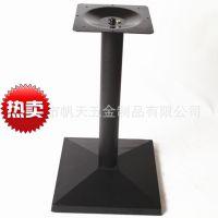 厂家批发供应西安仿铸铁高档塑胶方形桌脚台脚/西餐桌桌子底座