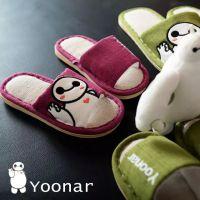 夏季日式卡通大白亚麻情侣拖鞋 春夏室内外木地板男女夏凉拖鞋
