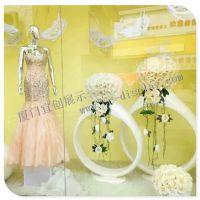 婚纱橱窗玻璃钢戒指花盆 仿真大戒指道具 婚庆道具 影楼装饰道具