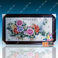 酒店人物山水瓷板画图片 古典美女画价格 景德镇陶瓷瓷板画厂