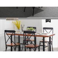 专业定制铁画美式铁艺实木餐桌椅组合餐厅酒吧酒店咖啡厅桌子复古办公桌会议桌