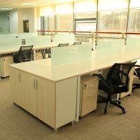 杭州办公家具办公桌椅组合简约现代4人位员工桌职员办公桌网吧桌椅厂家直销