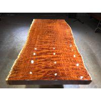 巴花大板桌奥坎黄花梨实木大板桌原木红木茶桌书桌餐桌老板办公桌