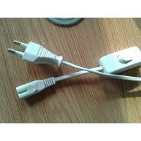 优质低价供应标准303认证开关配两芯韩国电源插头八字尾