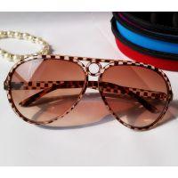 时尚大牌 经典太阳镜 琥珀色大框墨镜 明星同款太阳眼镜 茶色双灰