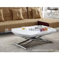 小户型多功能餐桌 客厅茶几 书桌 可升降可伸缩移动 带电磁炉