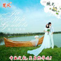 清仓中国漂流欧式木质公园旅游观光手划船景观装饰摄影道具船服务类船