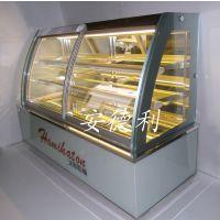 广州厂家 680w 弧形蛋糕展示柜 双层 大理石材质 三明治冷藏展示柜