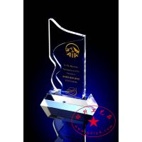 旅行社奖员工奖杯 优秀导游奖杯 杰出员工奖杯 桂林水晶奖杯