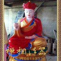 厂家定制玻璃钢座莲花地藏王菩萨,大型寺庙弥勒佛像.