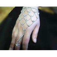 韩版韩式镶钻水钻手链 背链 新娘配饰 厂家直销 现货 拉丁舞配饰