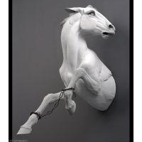 中国现代经典电影动物仿真雕塑/惟妙惟肖白龙马/玻璃钢/典点雕塑