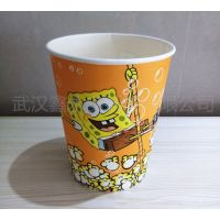 一次性纸桶 卡通爆米花桶 爆米花纸杯子 32盎司500只批发