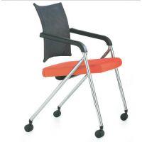 广东麦德嘉优质供应布艺弓型脚架的会议椅 塑胶布绒面的u形椅 国企私企公司会议室用椅